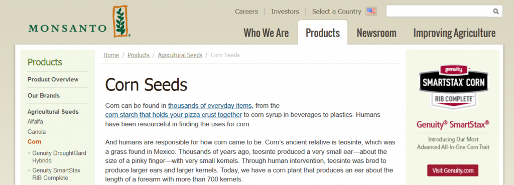 Genetically Modified Corn - Monsanto